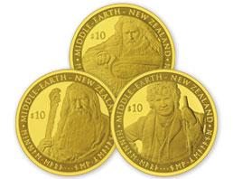 510237 B 2012 The Hobbit - An Unexpected Journey New Zealand 10 Dollar Premium Gold Coin Set 0