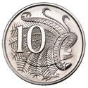 Монета Австралии номиналом 10 центов