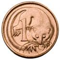 Монета Австралии номиналом 1 цент