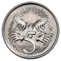 Монета Австралии номиналом 5 центов