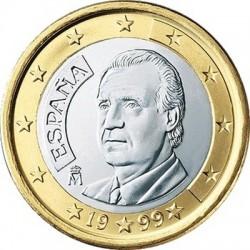 """Монета """"Испания - 1 евро (1999-2009)"""""""