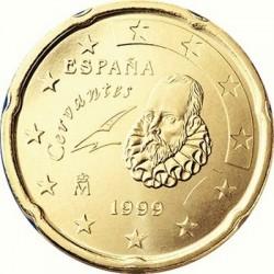 """Монета """"Испания - 20 евроцентов (1999-2009)"""""""