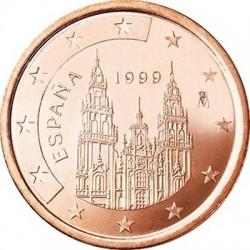 """Монета """"Испания - 5 евроцентов (1999-2009)"""""""
