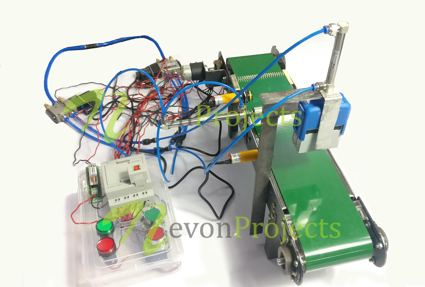 Automatic Stamping Labeling Machine Using PLC