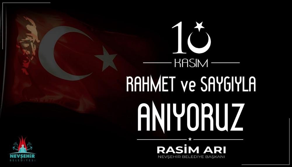 Başkan Rasim Arı'dan 10 Kasım mesajı