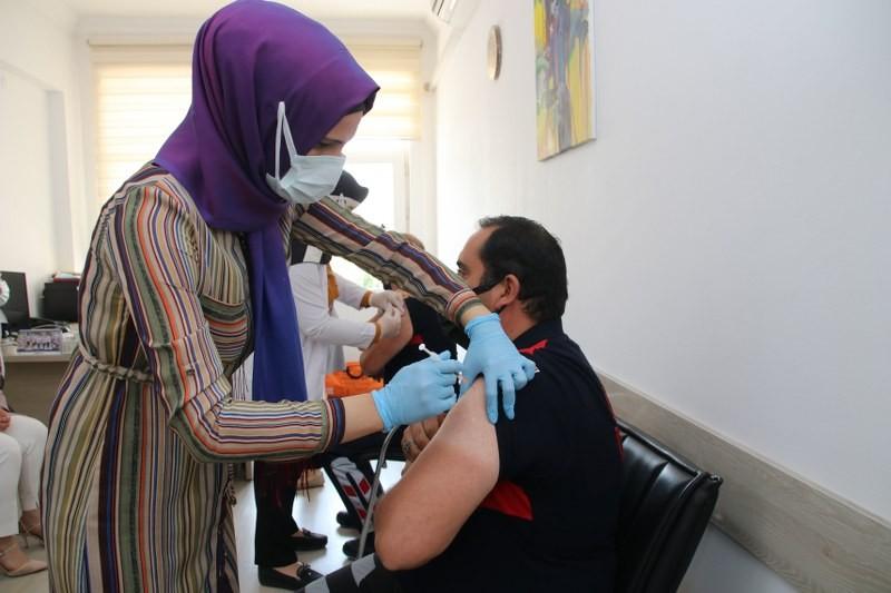 Ürgüp Belediyesi çalışanları aşı oldu