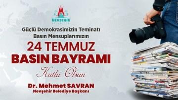 Savran'dan 24 Temmuz Gazeteciler ve Basın Bayramı mesajı