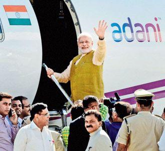 Adani jet with Modi