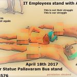 Press Release : IT Employees Demo in support of TN Farmers