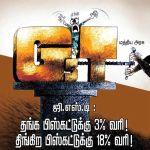 சரக்கு மற்றும் சேவை வரி : தங்க பிஸ்கட்டுக்கு 3% வரி! திங்கிற பிஸ்கட்டுக்கு 18% வரி!