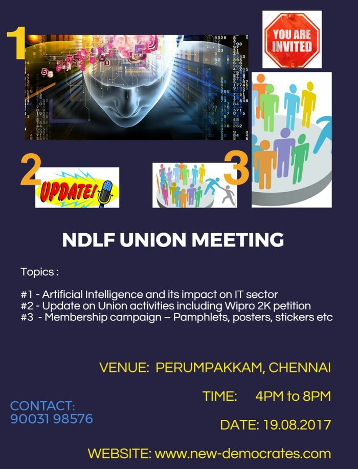 NDLF IT Employee Wing Meeting - Poster