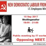 """Scrap NEET"" – Meeting Posters"