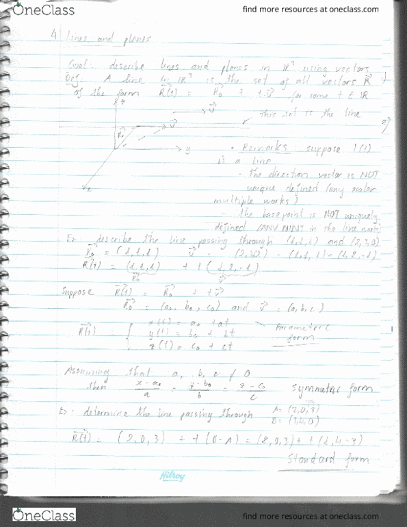 Class Notes for MATH 200 at University of British Columbia