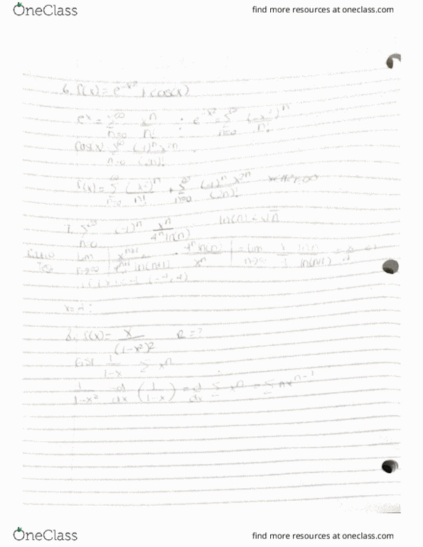All Educational Materials for MATH118 at University of