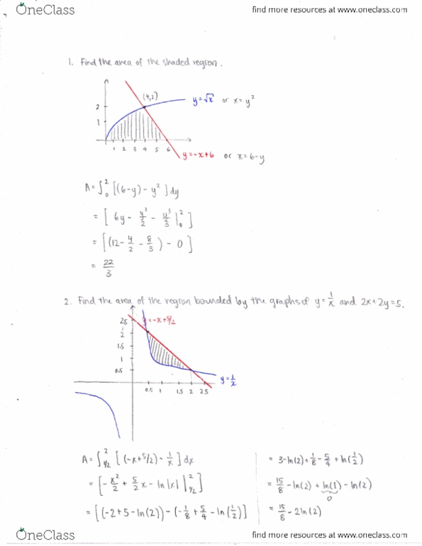 Study Guides for MATH 1550 at Louisiana State University