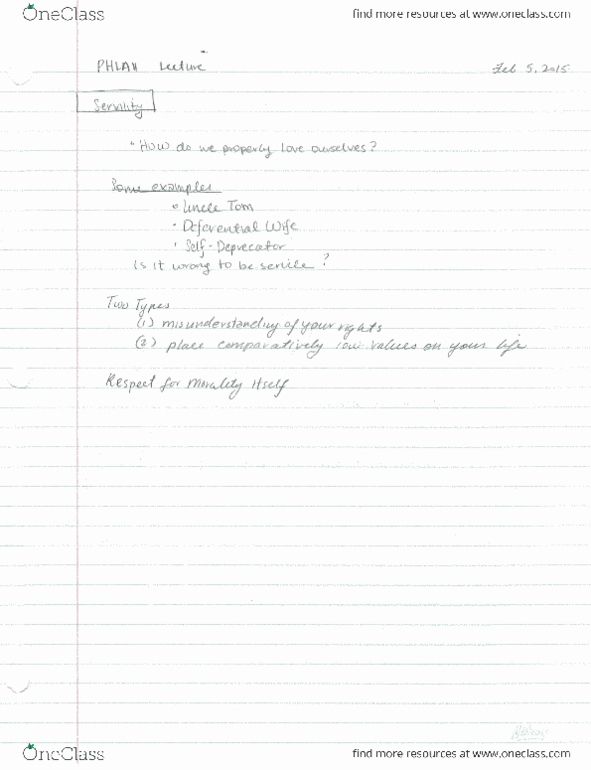 Class Notes for PHLA11H3 at University of Toronto