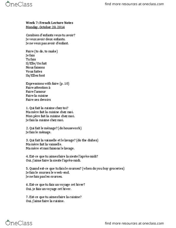 Ma Mere Et Moi On Fait L Amour : amour, Class, Notes, Mirella, Witek, OneClass