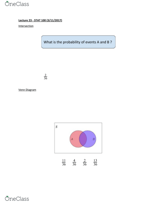 small resolution of stat 1000 lecture notes lecture 23 sample space venn diagram empty setpremium