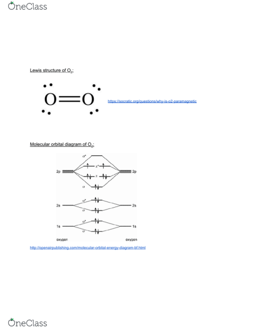 small resolution of magnetism and molecular orbital theory