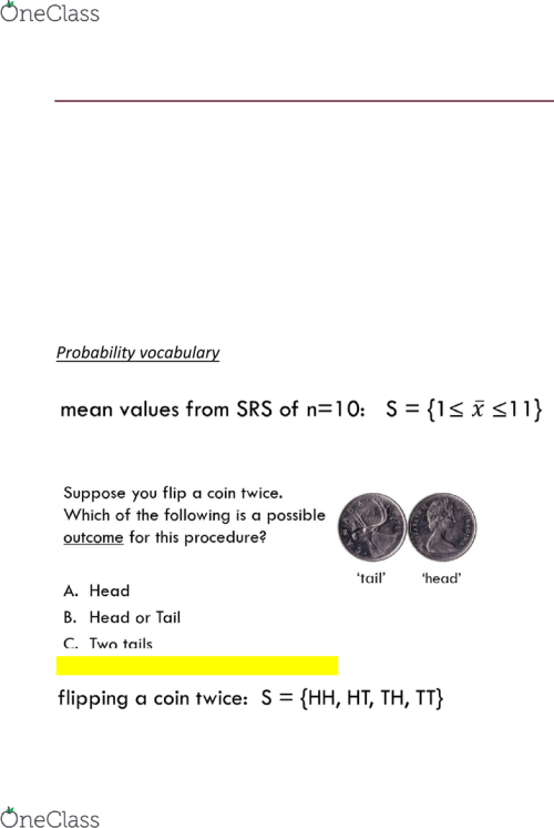 small resolution of lecture 7 probability