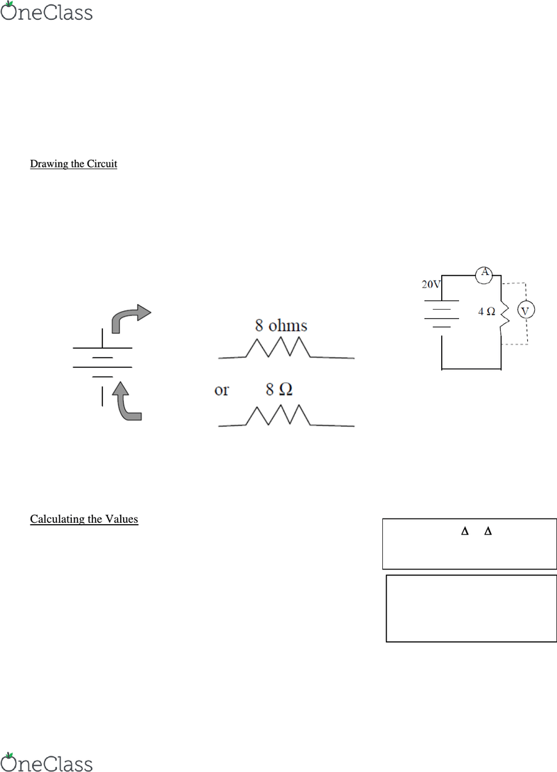hight resolution of a simple resistor circuit