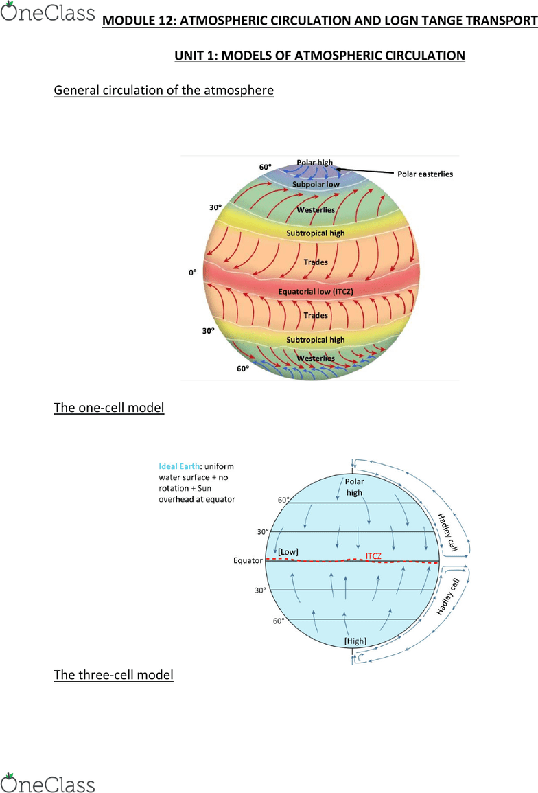 medium resolution of envirsc 1c03 lecture notes lecture 12 hadley cell atmospheric circulation polar easterlies