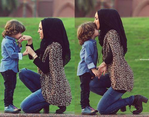 Cute Baby Hijab Wallpaper اجمل صور الام وبنتها اجمل بنات