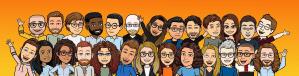 group bitmoji image of new harvest grantees