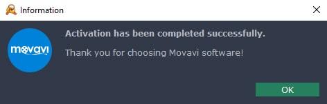 Movavi Successful Activation
