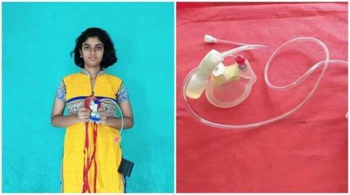 11 वीं कक्षा की स्कूली छात्रा ने बनाया वायरस किलिंग मास्क