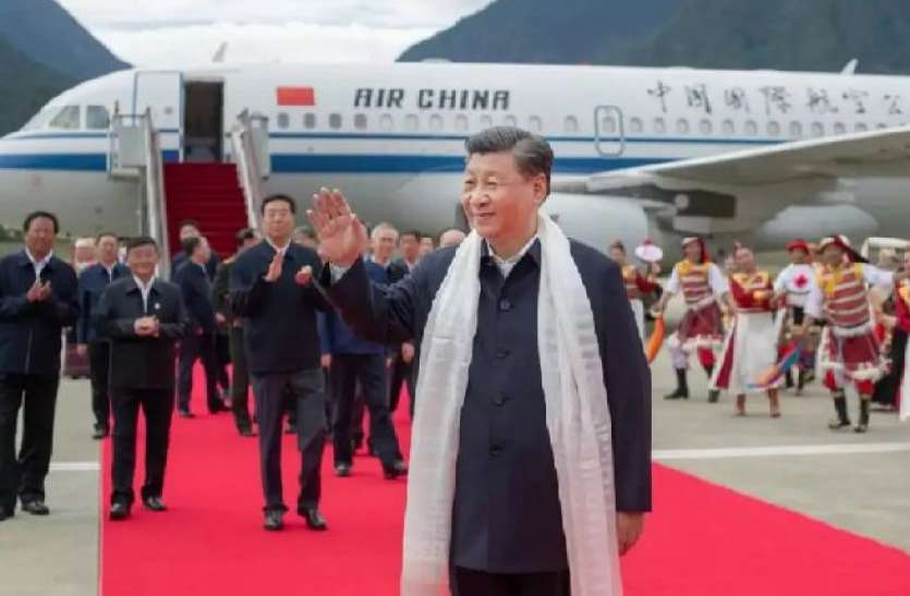 China president xi jinping first official visit tibet inspected on Arunachal pradesh border area