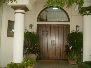 Distressed mission style front doors