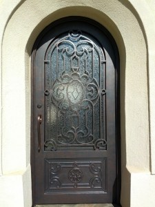 Metallic painted door