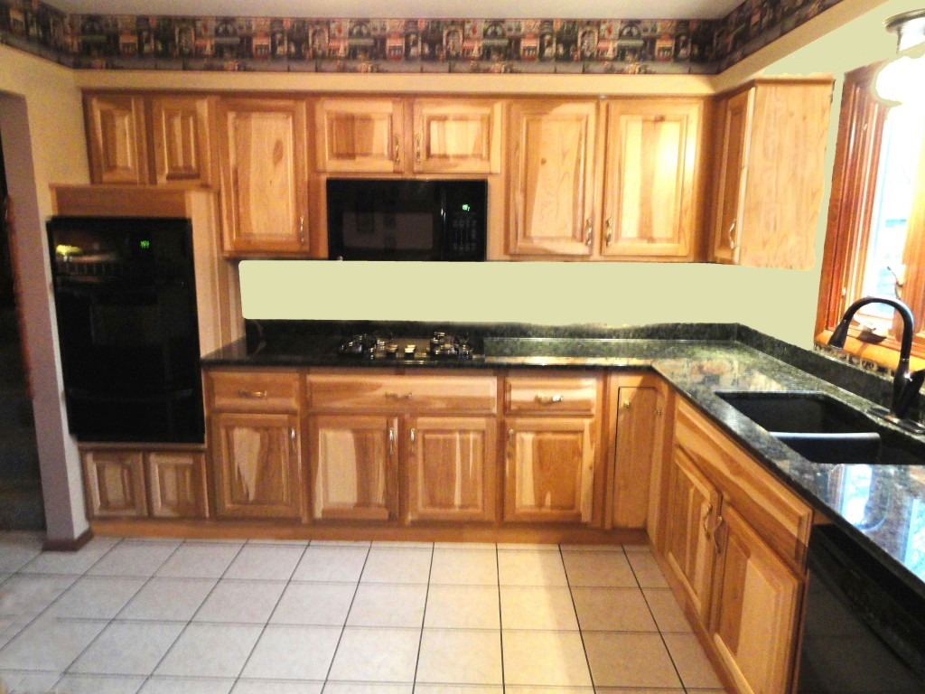 hickory shaker style kitchen cabinets bar table for photos affordable cabinet refacing nu look kitchens