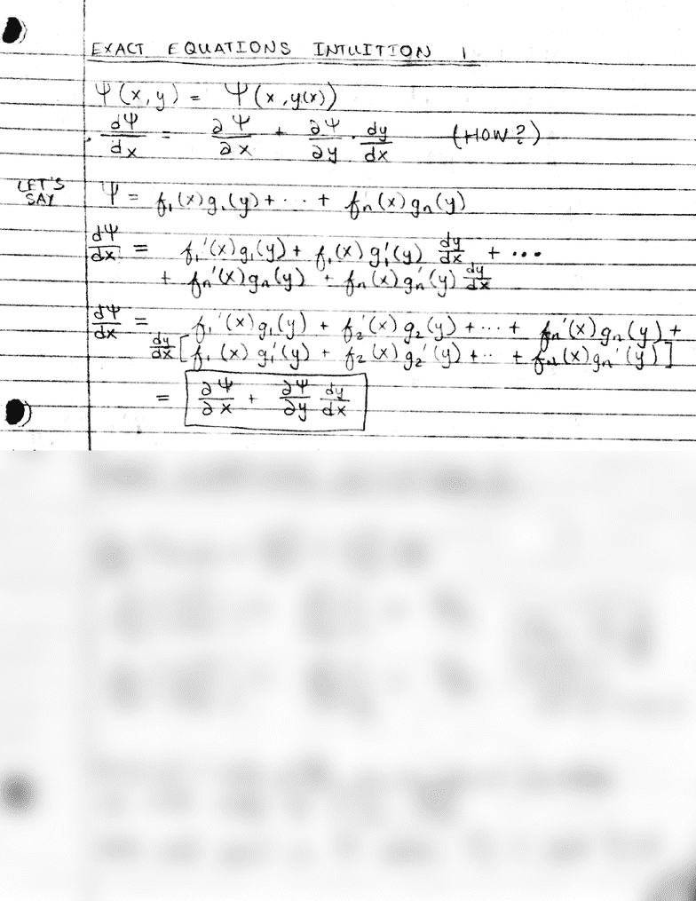 MATH 3230 Chapter Introduction: 08-09 Exact Equation
