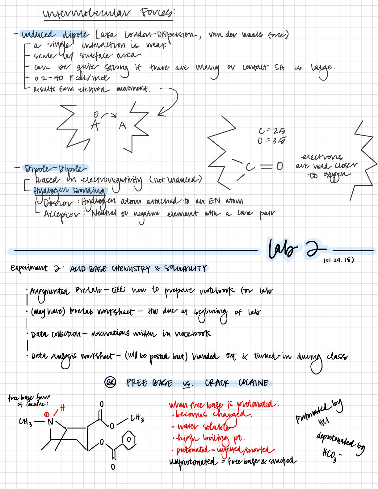 Chem 3al Lecture Notes