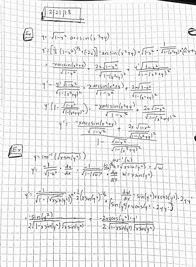MATH 1225 Lecture 12: Derivatives of Logarithmic Functions