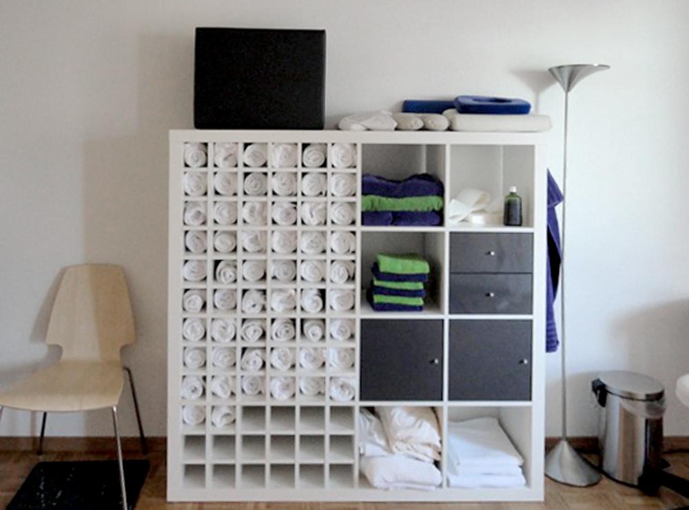 Ein cooles Handtuch Regal aus Ikea Expedit Regal  New