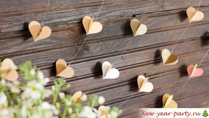 Cœurs pour la décoration de la maison
