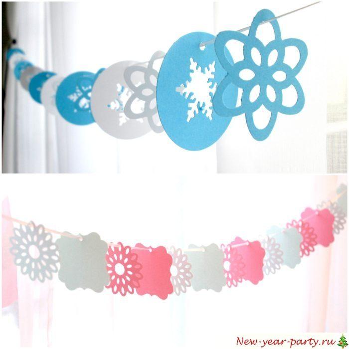 Flocons de neige pour la décoration festive