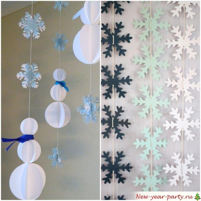 Pendentifs verticaux des flocons de neige