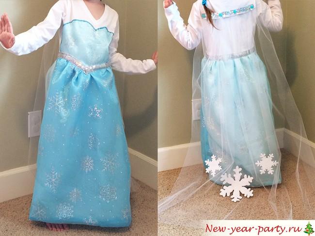 Vacker klänning Elsa hemma