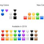 emoji nove barve znakov