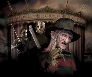 Freddy, Jason, and Leatherface at Halloween Horror Nights Universal Studios Hollywood