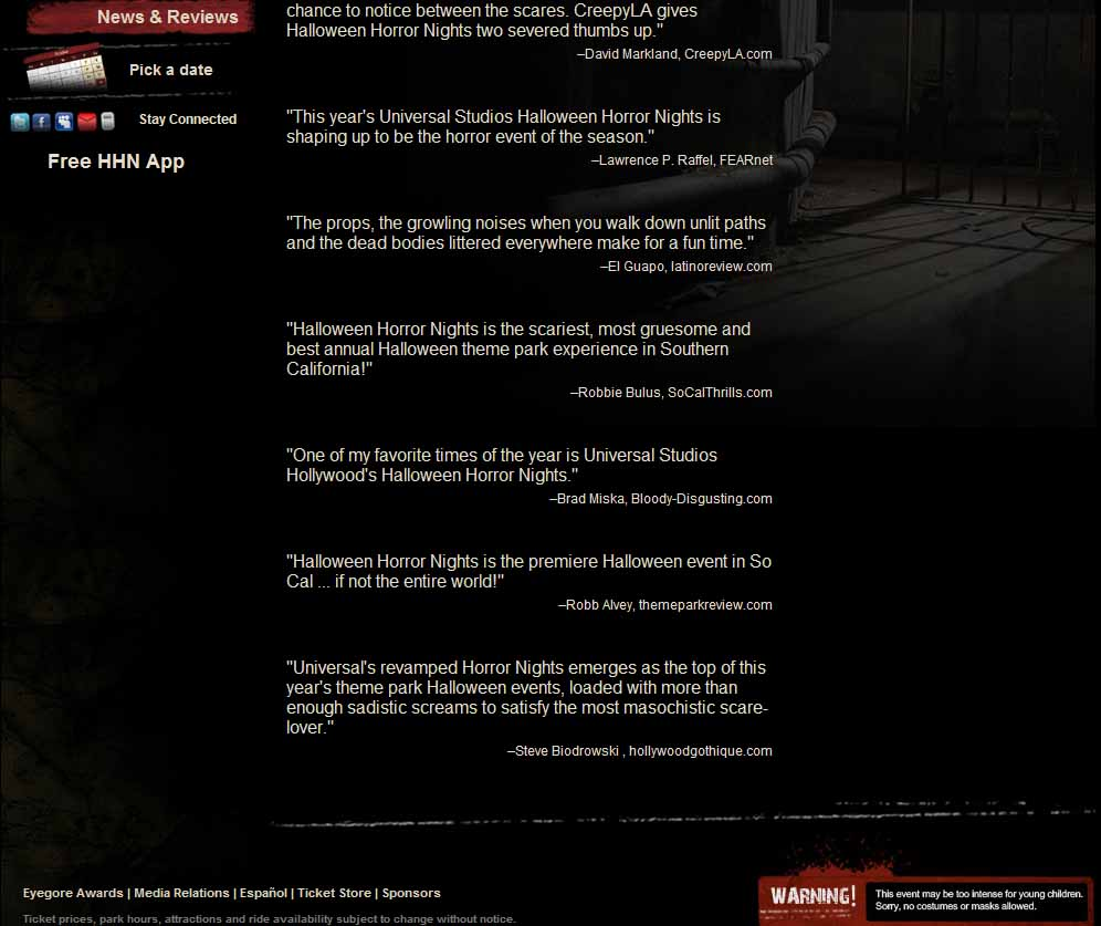 halloween horror nights quote close up - Halloween Horror Nights Free Tickets