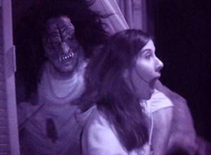 Horror breaks through the proscenium arch at the Theatre 68 haunt.