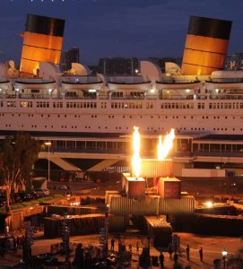 Queen Mary Dark Harbor: aerial view