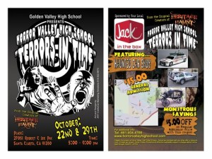 horror valley high vertical poster