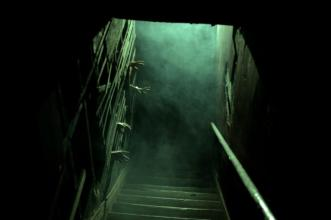 Watch your step - and those hands - as you descend the stairs.