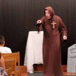 Strathearn Park Ghost Tour: a monk accuses an audience member of greed